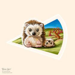 Rolling Hedgehog by rain-ant