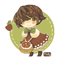 Apple-san pixel by DD1992