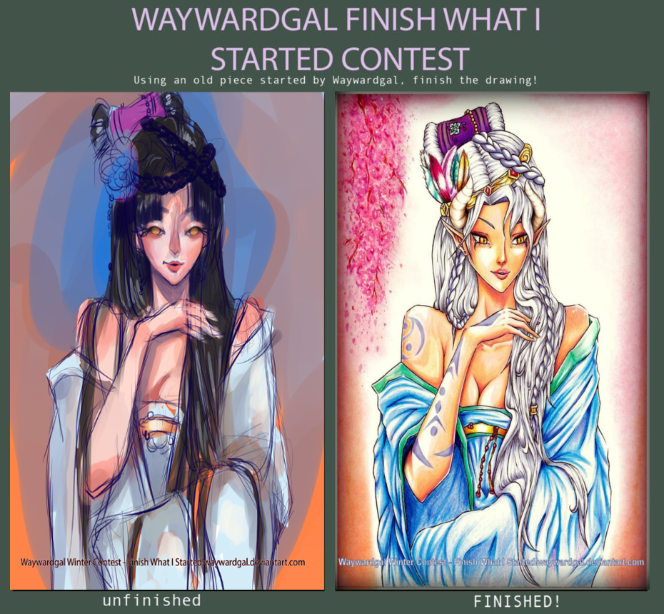 Contest Entry - Finish What I Started ! by AjkaSketch