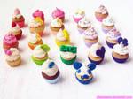 Rainbow Cupcake Charms!