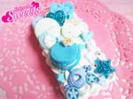 Blue Kawaii Decoden Iphone 4/4S Case by kpossibles