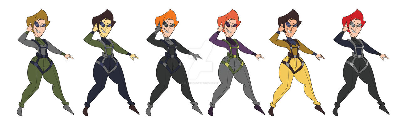 Spy Mom Colour Models by BreakoutKid