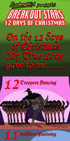 Breakout Stars 12 Days of Christmas