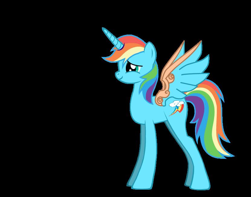MLP Rainbow Dash as a AlicornMlp Alicorn Rainbow Dash