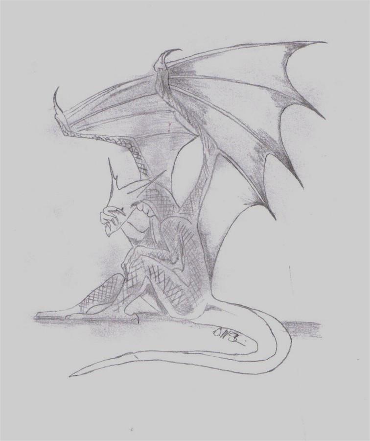 Depressed Dragon By JumpingPeanuts