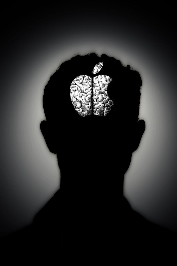 Apple Brain. by Arigulla