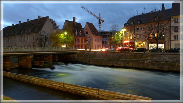 Strasbourg Canal at dusk