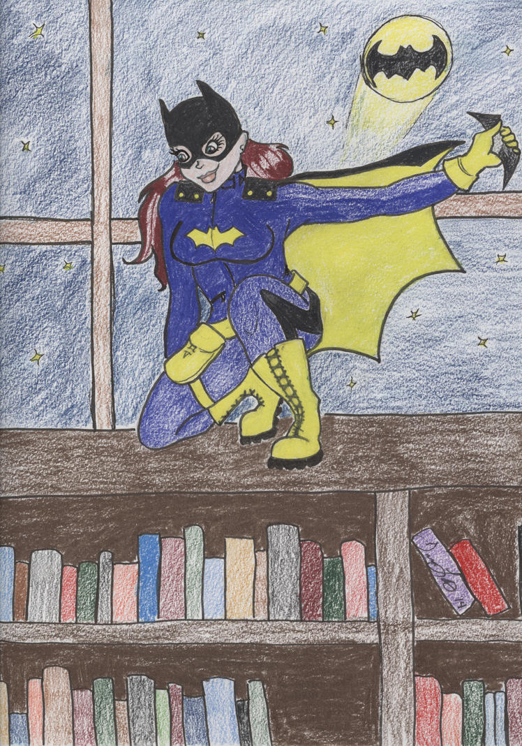 Batgirl in the Library by LolitaLibrarian