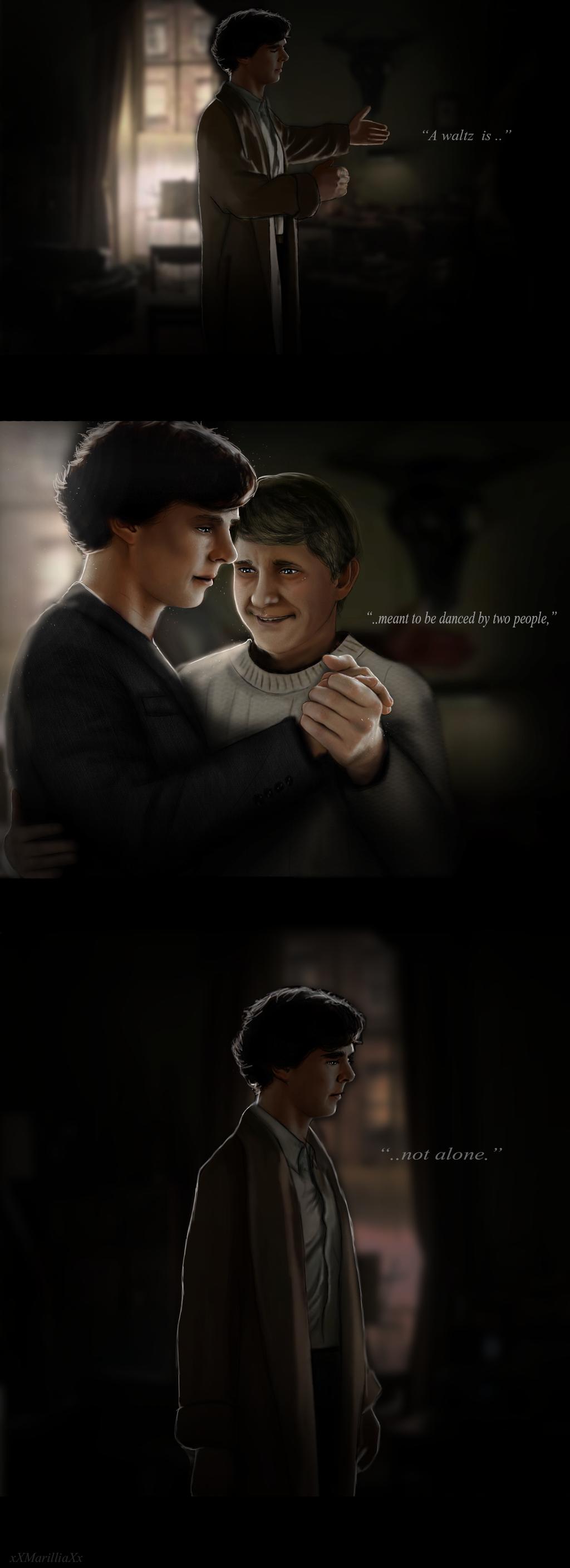 [Sherlock x John] Waltz.. by xXMarilliaXx