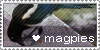magpie stamp by silly-little-flower