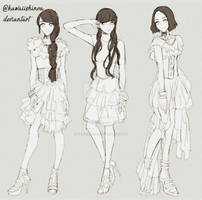 fashion anime sketch