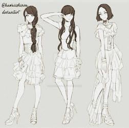 fashion anime sketch