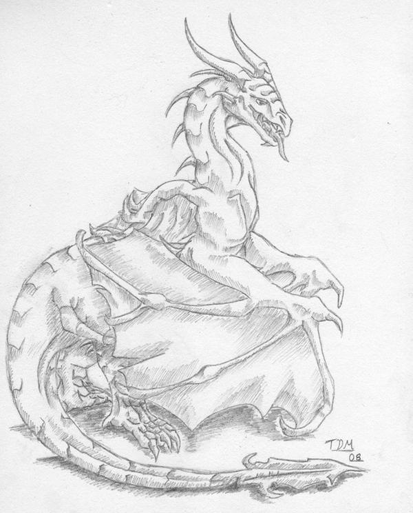 Pencil dragon i by thedragonmystic