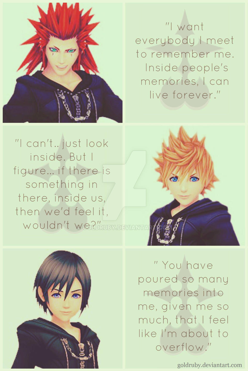 Kingdom Hearts 358/2 Days Quote Collage by GoldRuby on ...
