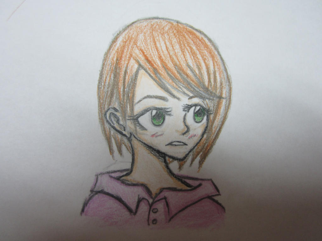 Anime Girl Short Brown Hair Random Sketch By Midnightshadowgirl25 On Deviantart