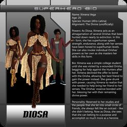 B3 superhero bio Diosa