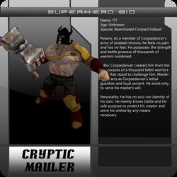 B3 superhero bio CrypticMauler