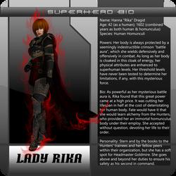 B3 superhero bio LadyRika