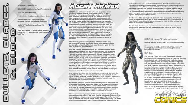 B3 Custom Character Bio Sheet: Agent Armor