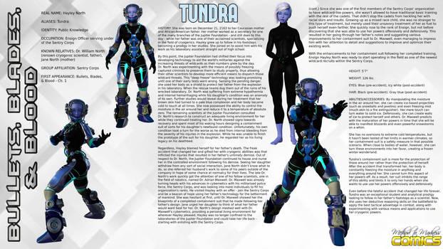 B3 Custom Character Bio Sheet: Tundra