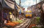 market and train