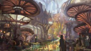mushroom city by Nneila