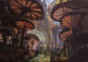 mushroom street by Nneila
