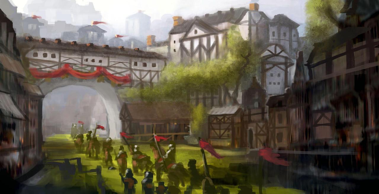 fantasy town by Nneila on DeviantArt