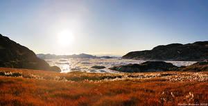 Sunset over Kangia Icefjord