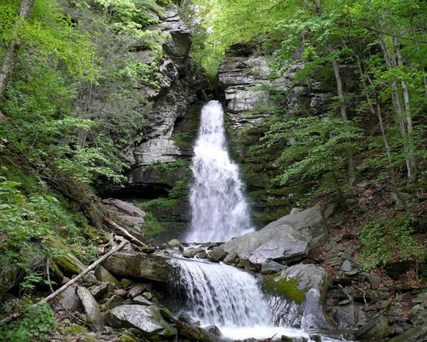 Buttermilk Falls by ixbalam