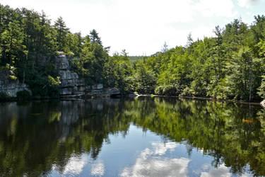 Hidden Pond Summer View by ixbalam