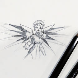 Sketch - Mercy of Overwatch by PixelMistArt