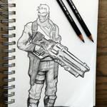 Soldier 76 Sketch - Overwatch Fanart
