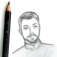 William Riker - graphite sketch