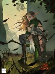 Elven Archer by Midfinger