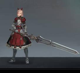 B.F. sword girl by Midfinger