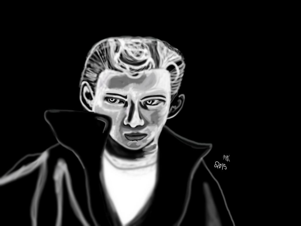 Mr James Dean fan art 2015 by MedievalDragonLady
