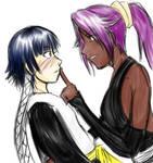 Yoruichi+Soi Fong Sketch