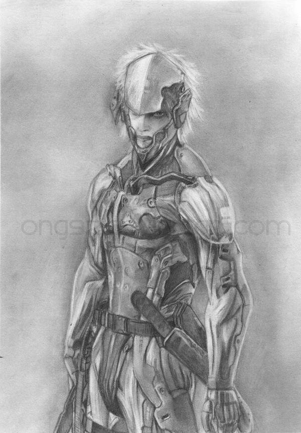 Raiden mgs4 art