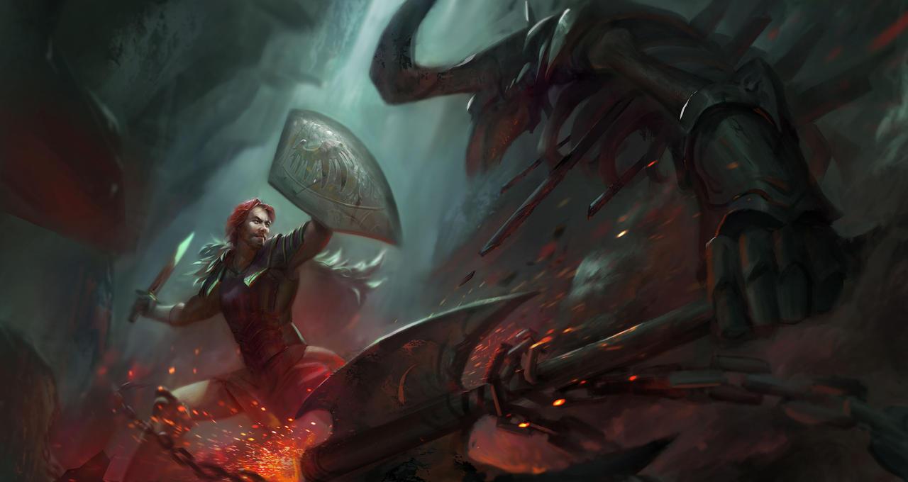 Commission: Knight vs Minotaur