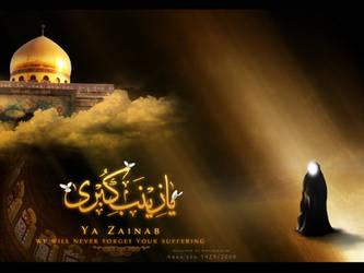 Lady Zainab - Wallpaper by rizviArts