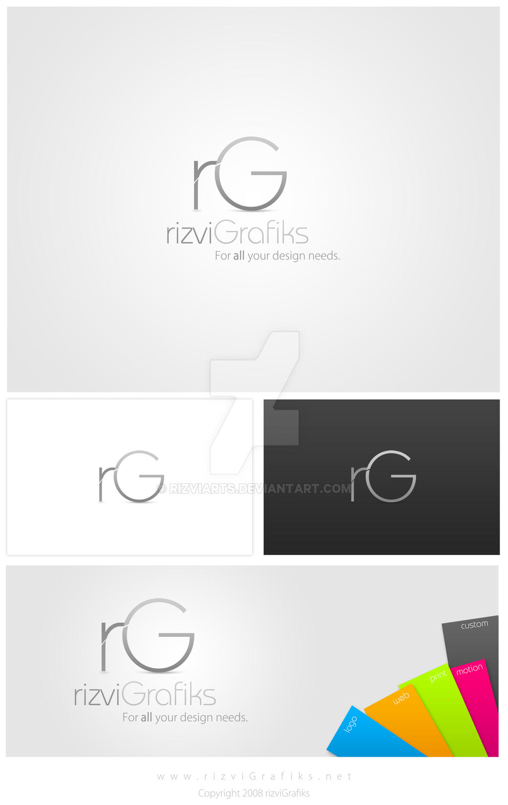 rizviGrafiks-new logo design by rizviArts