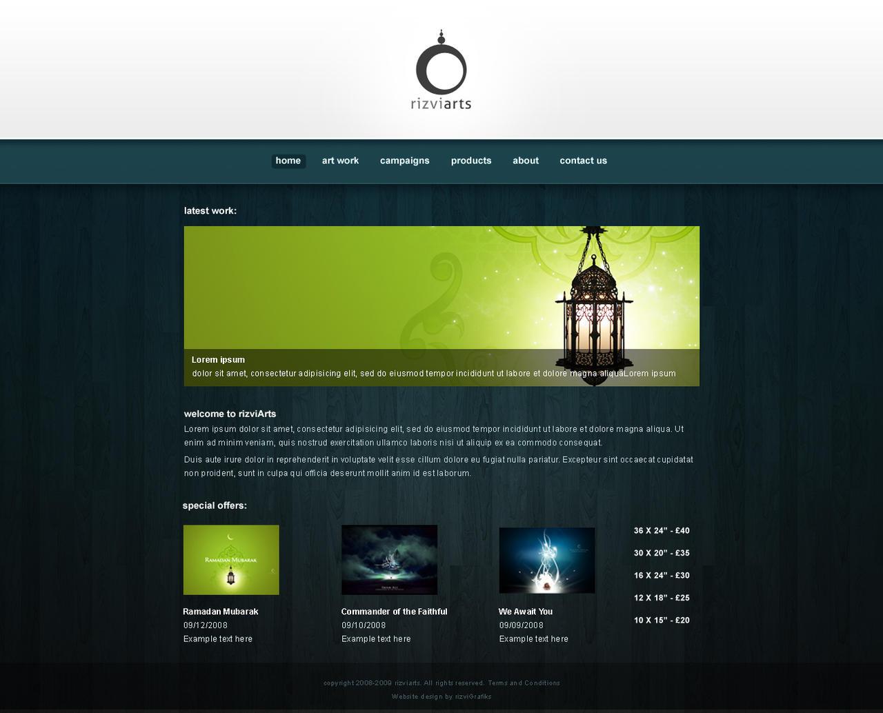 rizviArts - webdesign 2