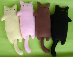 Flat Cats by Unicornfandango