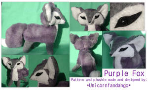 Purple Renard plush