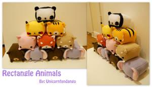 Rectangle Animals Pyramid by Unicornfandango