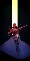 but she has a big sword by ochibrochi