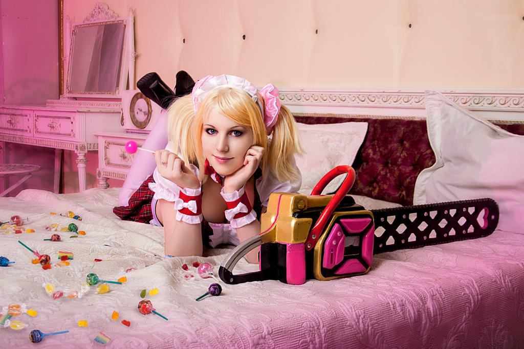 Lollipop Chainsaw cosplay Juliet Starling maid by Jane-Po