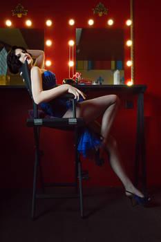 Burlesque costume Blue bird