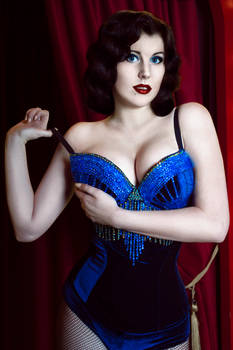 Blue Bird Burlesque Costume